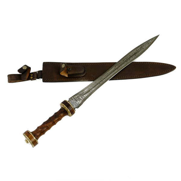 "Gladius Sword- High Carbon Damascus Steel - 24""- Gladiator/ Hispaniensis Sword"