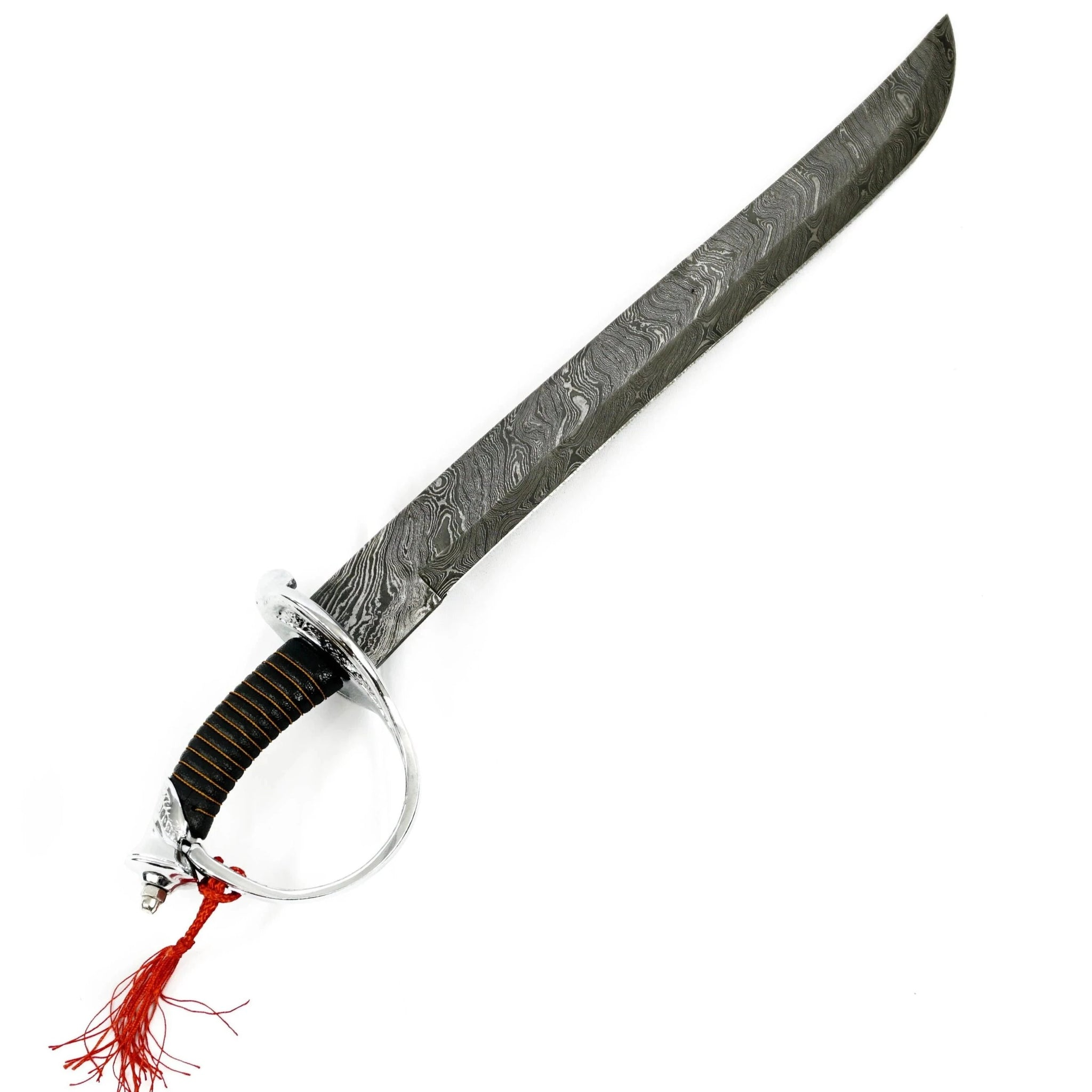 "Cutlass - High Carbon Damascus Steel Sword-23"" Battle Ready Pirate Sword- Swashbuckling Sword"