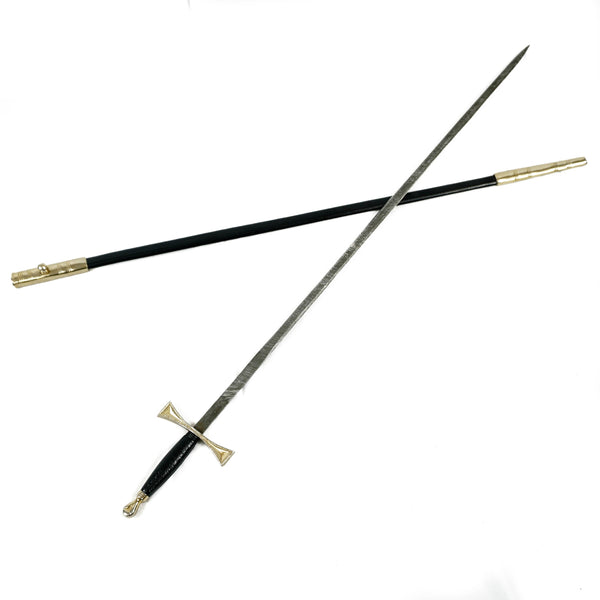 Rapier Sword- Handmade High Carbon Damascus Steel Zorro/ Fencing Sword-30""