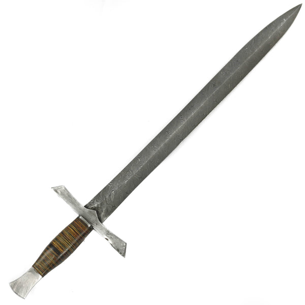 "Claymore - High Carbon Damascus Steel Sword- 29""- Claymore Sword"