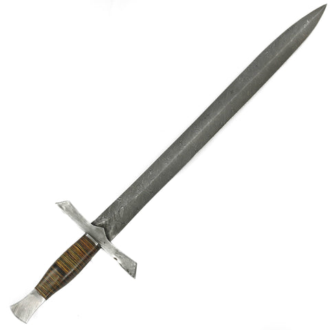 Longsword/ Bastard Sword- High Carbon Damascus Steel Sword- 29""