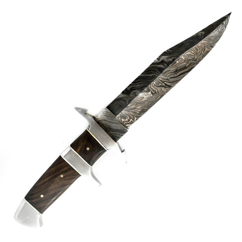 Hunting Knife- High Carbon Damascus Steel Blade- Bowie Knife