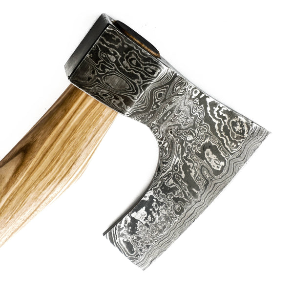 Small Tomahawk Ax-Handmade High Carbon Damascus Steel Ax / Axe