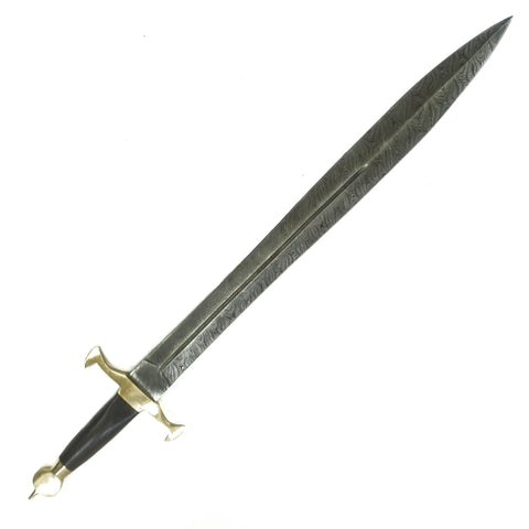 Viking Sword / Ulfberht Sword- High Carbon Damascus Steel Sword- 31""