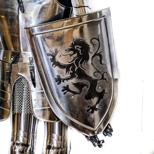 Knight Suit of Armor- Steel - Wearable Suit of Armor with Shield