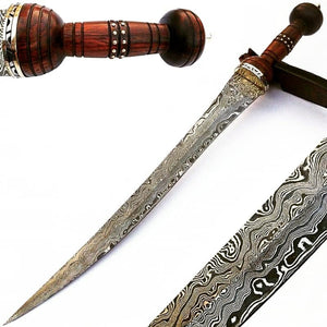 "Cutlass Sword- High Carbon Damascus Steel Sword- 37""- Saber/ Sabre"