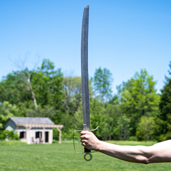 "Backsword - High Carbon Damascus Steel Sword-36"" Battle Ready"
