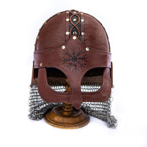 Viking Helmet- Leather- Gjermunbdu