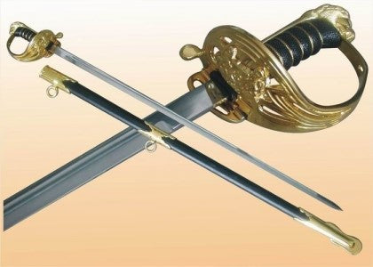 "Rapier Sword- 1095 Steel High Carbon -38"" Battle Ready"