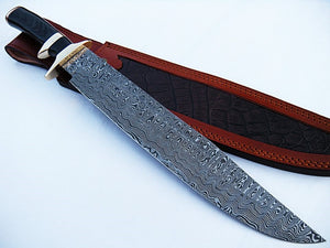 "Cutlass Sword- High Carbon Damascus Steel - 26""- Saber Sword"