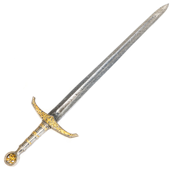 Longsword/ Bastard Sword- King's Sword- High Carbon Damascus Steel Sword- 42""