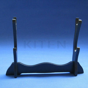Sword Stand- Black Two Layer Wood Stand