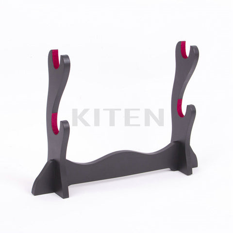 Two Sword Stand with Red Velvet