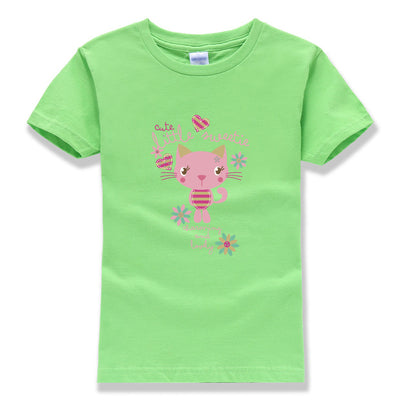 Little Sweetie, Cat T-shirt for kids