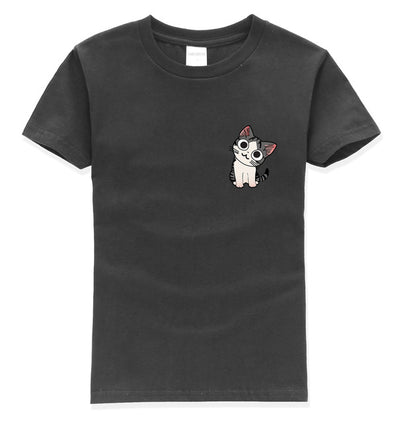 Adorable kids T-shirt with lovely little cat print