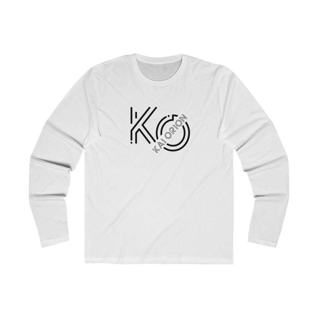 K.O. Men's Long Sleeve Crew Tee WHITE