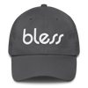 "bless ""Outline White"" Cotton Dad Cap"