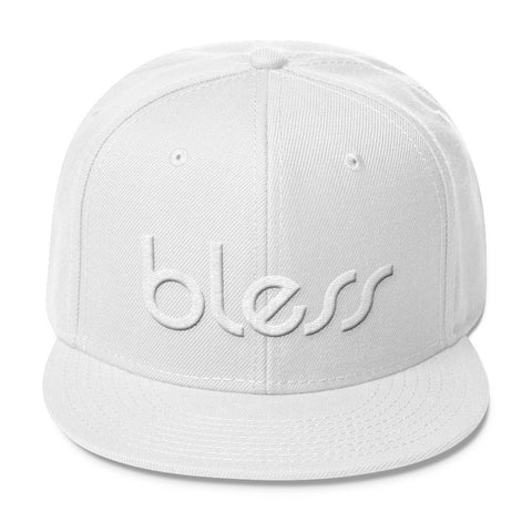 """bless"" Color on Color Wool Blend Snapback"