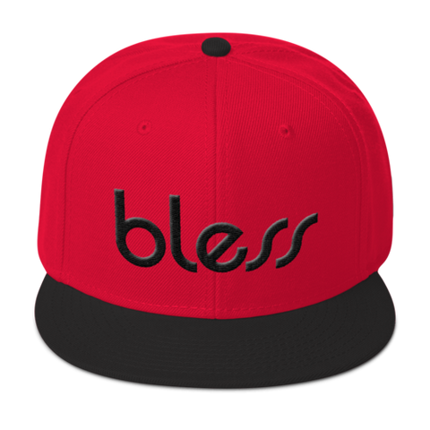 """bless"" Multicolor Wool Blend Snapback"