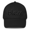 """Bless"" Color on Color Dad Cap BWR"
