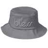 """bless"" Color on Color Old School Bucket Hat"