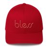 """bless"" Color on Color Structured Twill Cap Flexfit"
