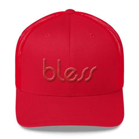 """bless"" Color on Color Trucker Dad  Cap"