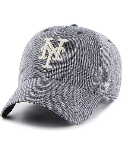 New York Mets Strike Through Clean Up Gray 47 Brand Adjustable Dad Hat  785e68970869
