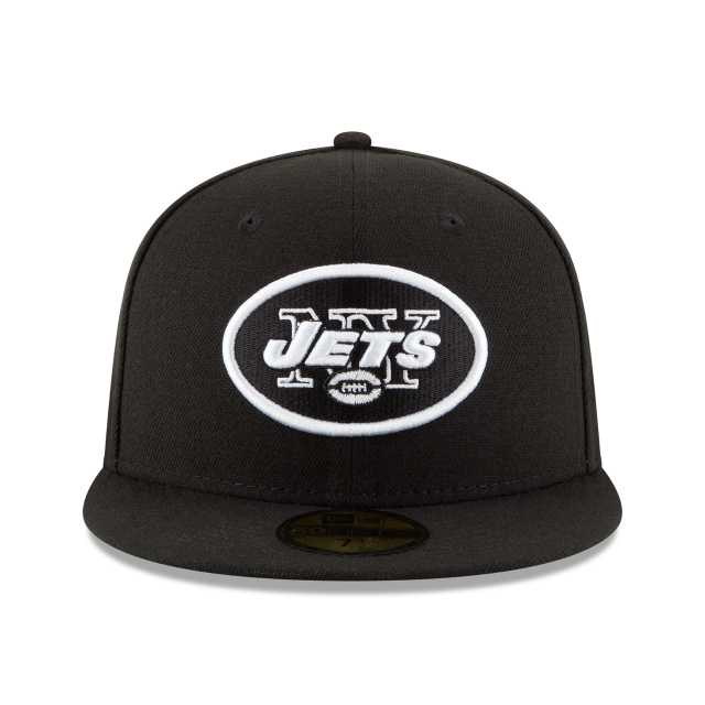 edd331148fa NEW ERA NFL COLLECTION NEW YORK JETS BLACK   WHITE 59FIFTY FITTED