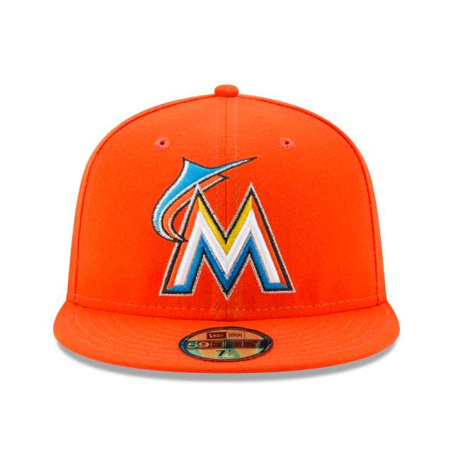 the best attitude 5f4b5 d200f NEW ERA MLB ON-FIELD COLLECTION MIAMI MARLINS AUTHENTIC COLLECTION 59FIFTY  FITTED