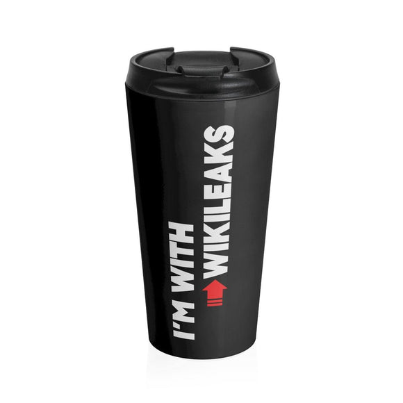 I'm with WikiLeaks - Stainless Steel Travel Mug - WikiLeaks Shop