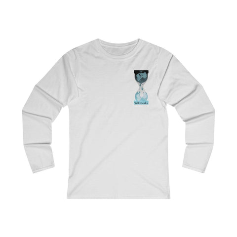 WikiLeaks Hourglass Logo - Women's Fitted Long Sleeve Tee
