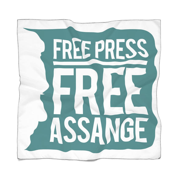 Free Press Free Assange - Poly Scarf - WikiLeaks Shop
