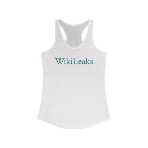 WikiLeaks Text Logo  - Women's Ideal Racerback Tank - WikiLeaks Shop