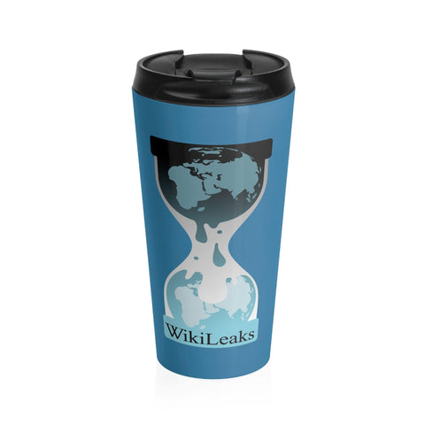 WikiLeaks Logo Stainless Steel Travel Mug - WikiLeaks Shop