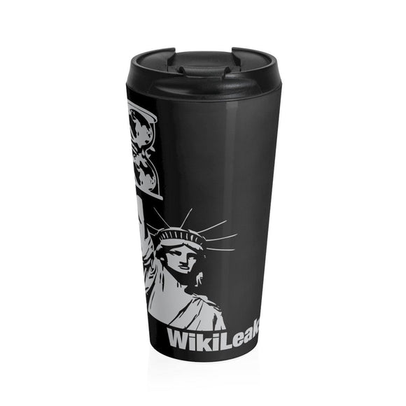 WikiLeaks Liberty - Stainless Steel Travel Mug - WikiLeaks Shop