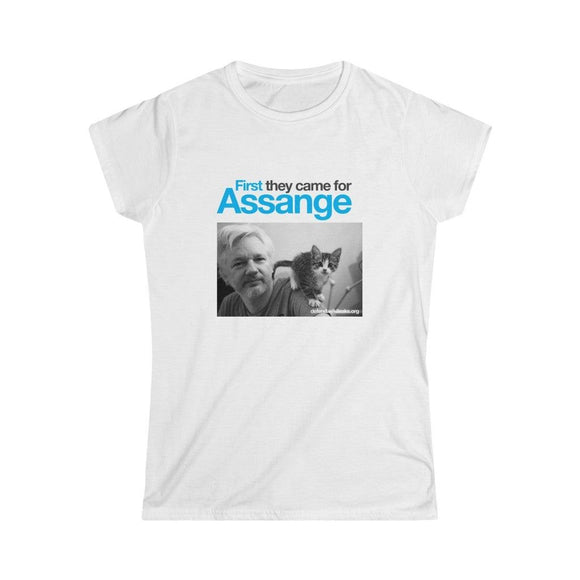 First they came for Assange  - Women's Slim Tee