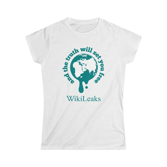 WikiLeaks Supporters - And the Truth will set you Free - Women's Slim Tee
