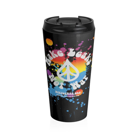 Make Leaks Not War - Stainless Steel Travel Mug - WikiLeaks Shop