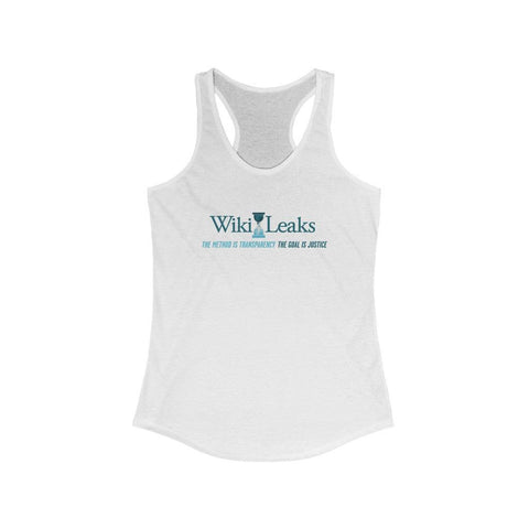 WikiLeaks Supporters - The Method is Transparency - Women's Ideal Racerback Tank - WikiLeaks Shop