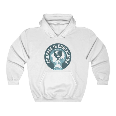 Courage is Contagious WikiLeaks - Unisex Hooded Sweatshirt - WikiLeaks Shop
