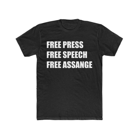 Free Press, Speech, Assange - Premium Fitted Tee - WikiLeaks Shop