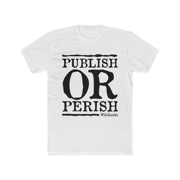 Publish or Perish - WikiLeaks - Premium Fitted Tee - WikiLeaks Shop