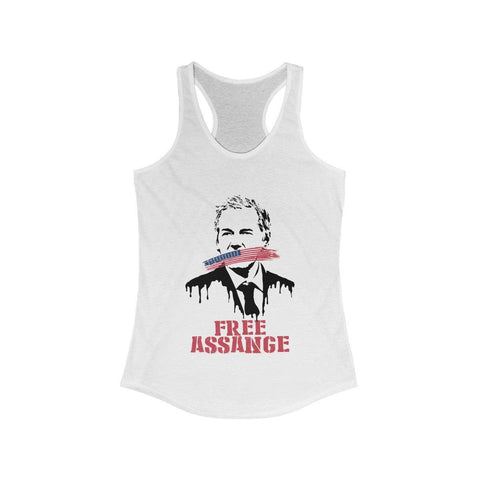 Free Assange Leak - Women's Ideal Racerback Tank - WikiLeaks Shop
