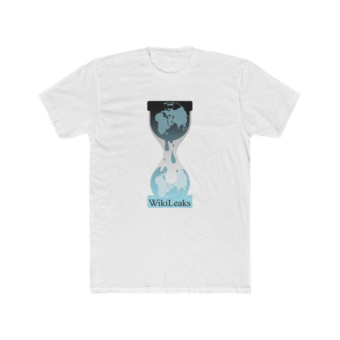 WikiLeaks Hourglass Logo - Premium Fitted Tee