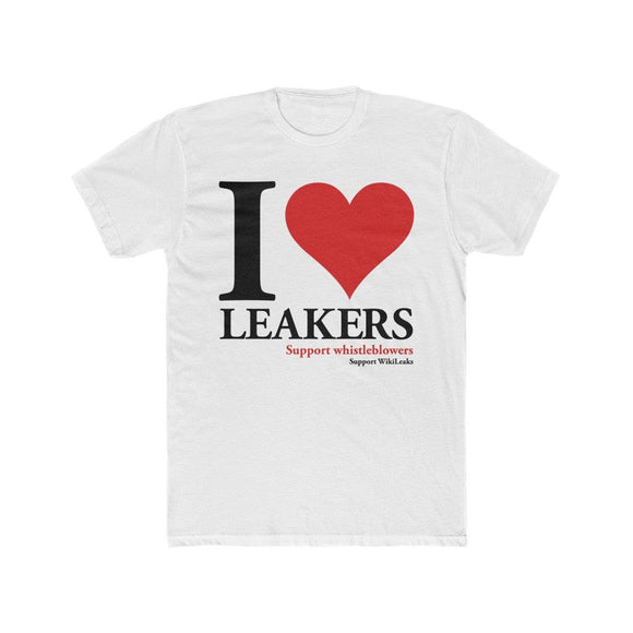 I Love Leakers - Premium Fitted Tee - WikiLeaks Shop