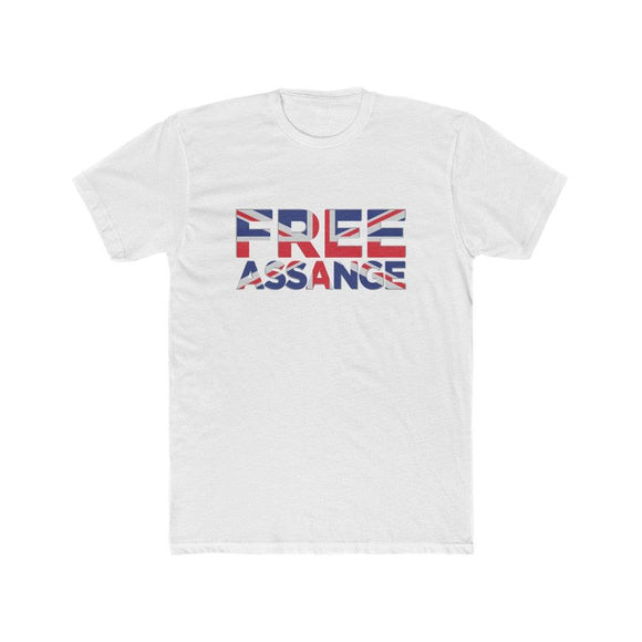 Free Assange Union Jack - Premium Fitted Tee - WikiLeaks Shop