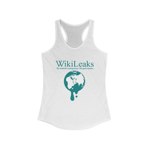 WikiLeaks Dripping Globe - Women's Ideal Racerback Tank - WikiLeaks Shop