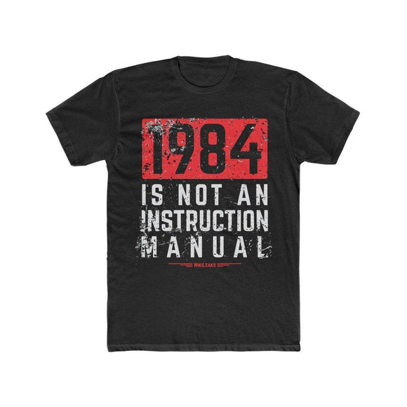 1984 is Not an Instruction Manual - WikiLeaks - Premium Fitted Tee - WikiLeaks Shop
