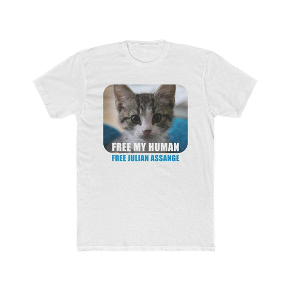 Free My Human - Premium Fitted Tee - WikiLeaks Shop